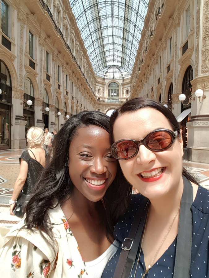 Thea and I in Milan - Doingitaly: small group tours in Italy