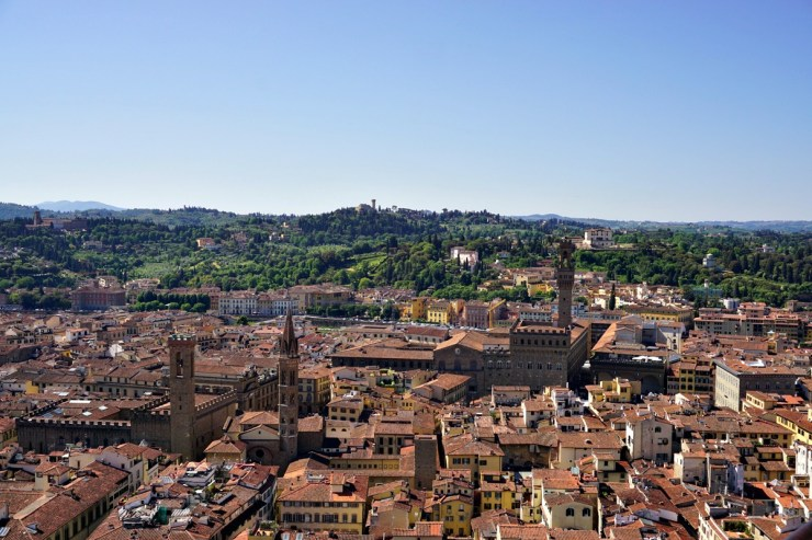 View from Florence Cathedral Dome