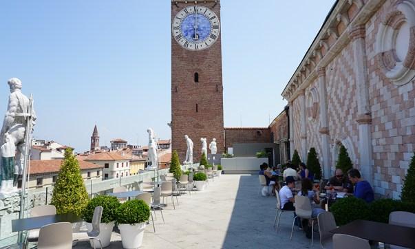 La terrazza della Basilica Palladiana in Vicenza