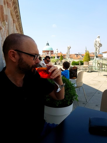 Matteo having a spritz