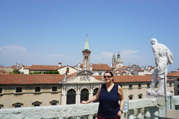 Me on the top of the Basilica Palladiana in Vicenza