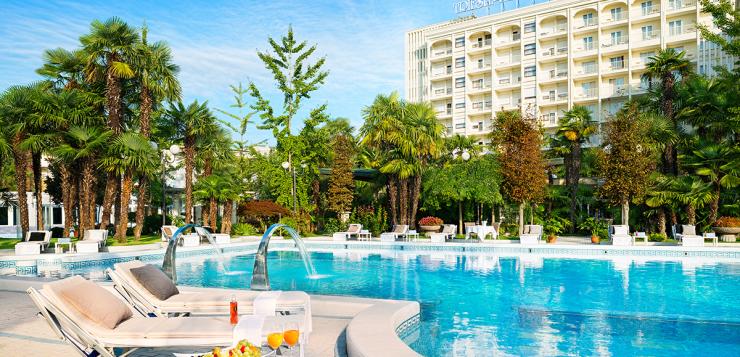 Pool, photo courtesy of Grand Hotel Trieste e Victoria