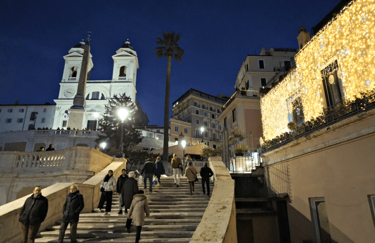 Spanish Steps in the evening
