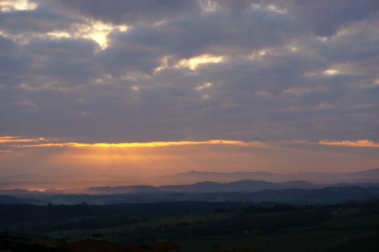 Dawn in Chianciano Terme