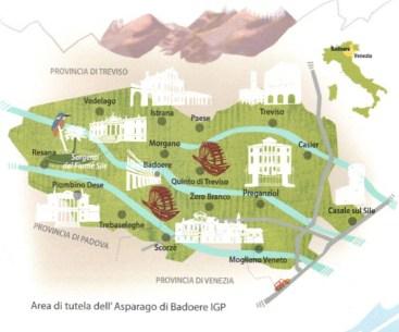 The area of Asparagi di Badoere igp