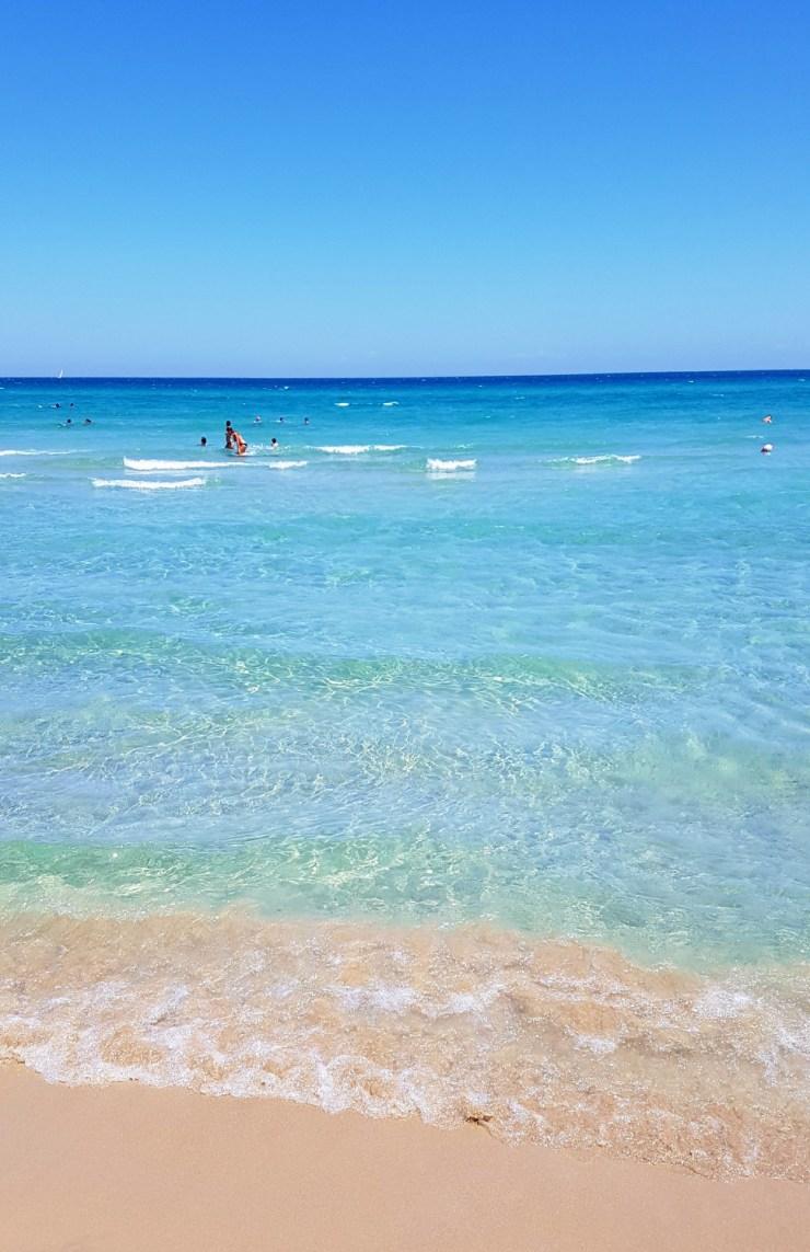 Alimini beach in the morning
