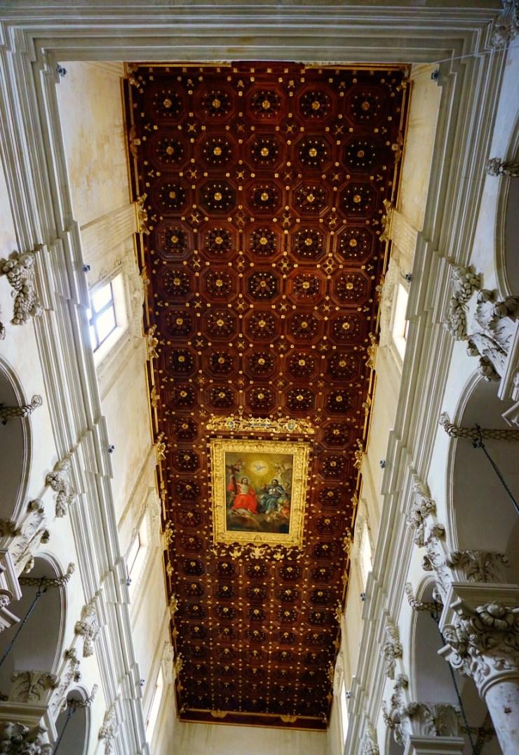 Santa Croce Basilica ceiling, Lecce