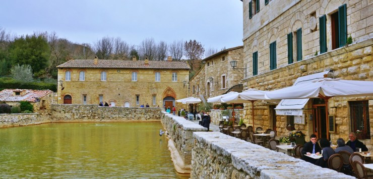 Bagno Vignoni Where The Main Piazza Is A Hot Water Pool