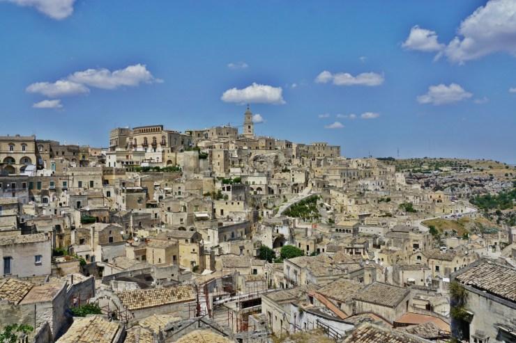 View from Piazzetta Pascoli Matera