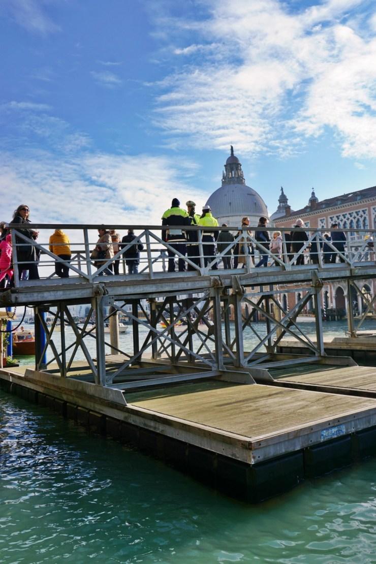 Temporary bridge, Salute festival in Venice