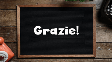 What does grazie mean in Italian?