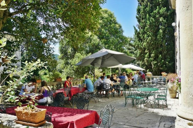 The Café Valmarana ai nani terrace
