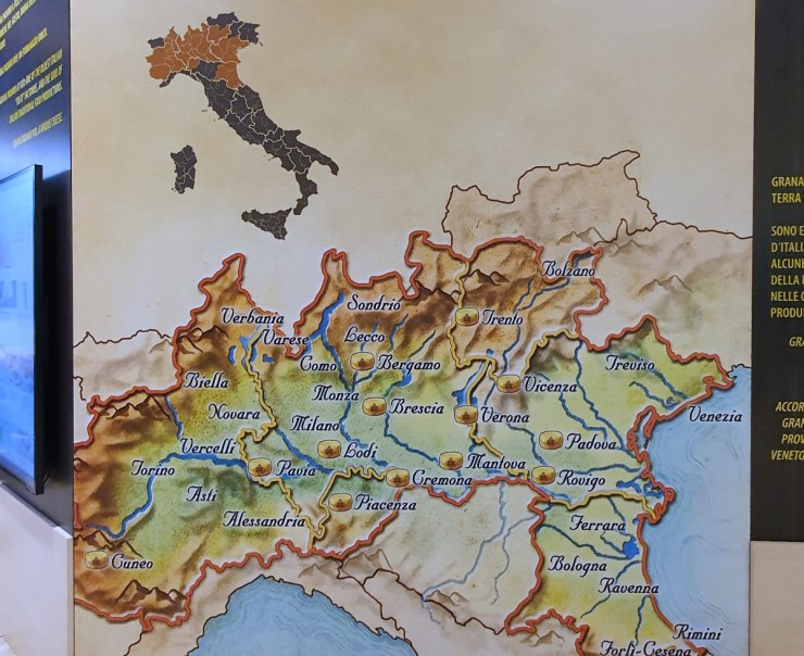 Grana Padano production area, FICO
