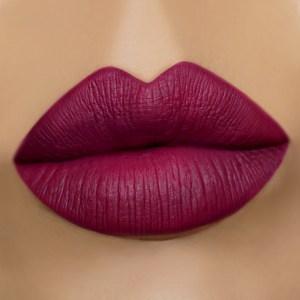 Gerard Cosmetics Wine Down Liquid Lipstick Medium Skin Swatch