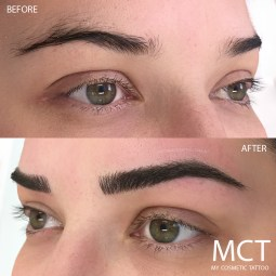 Before & After 3d Feather Brow Tattoo