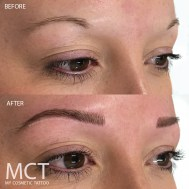 Also known as 6D Brows, we use a combination of a few different techniques to help blend the hairstrokes into the tattoo.