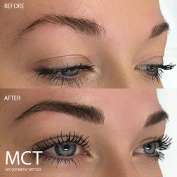 Before and After 3D Feather Brow Tattoo
