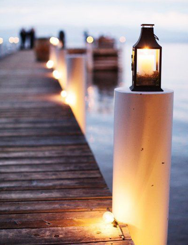 Stunning outdoor coastal lanterns | My Cosy Retreat