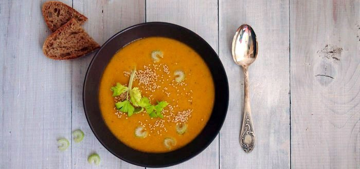 Sweet potato, carrot and red lentil soup | My Cosy Retreat