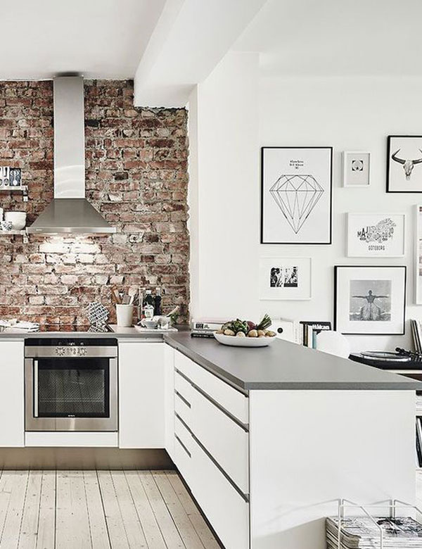 10 charming brick wall kitchen designs | My Cosy Retreat