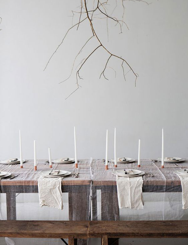 Beautiful minimalist autumn table settings | My Cosy Retreat
