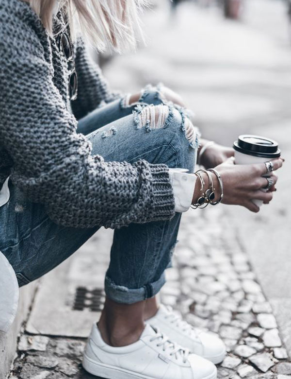 10 awesome casual autumn looks in gray | My Cosy Retreat