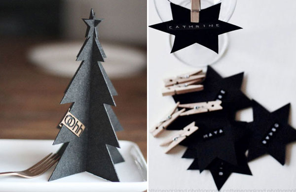 Simple Christmas table settings with a touch of black | My Cosy Retreat