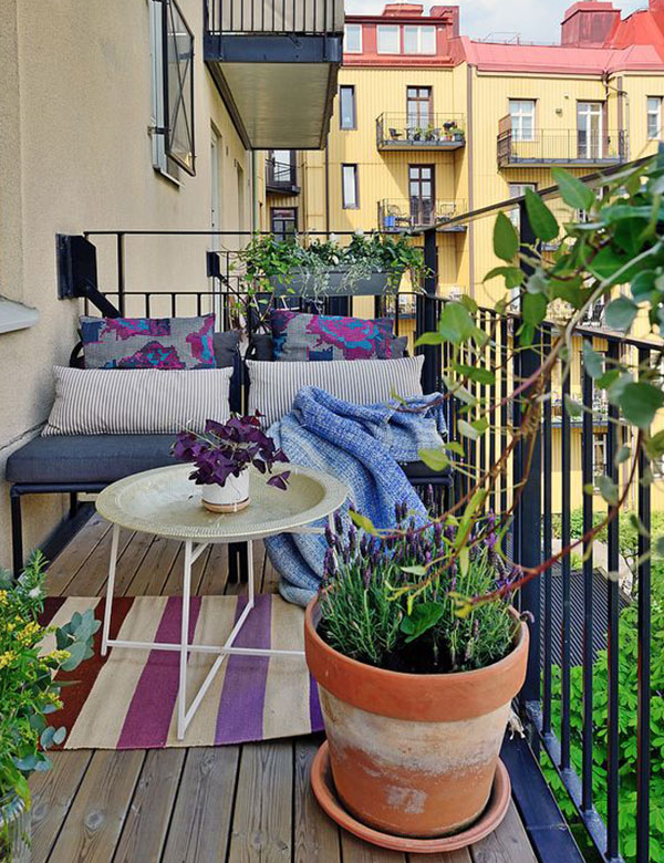 10 gorgeously beautiful small balcony designs | My Cosy Retreat