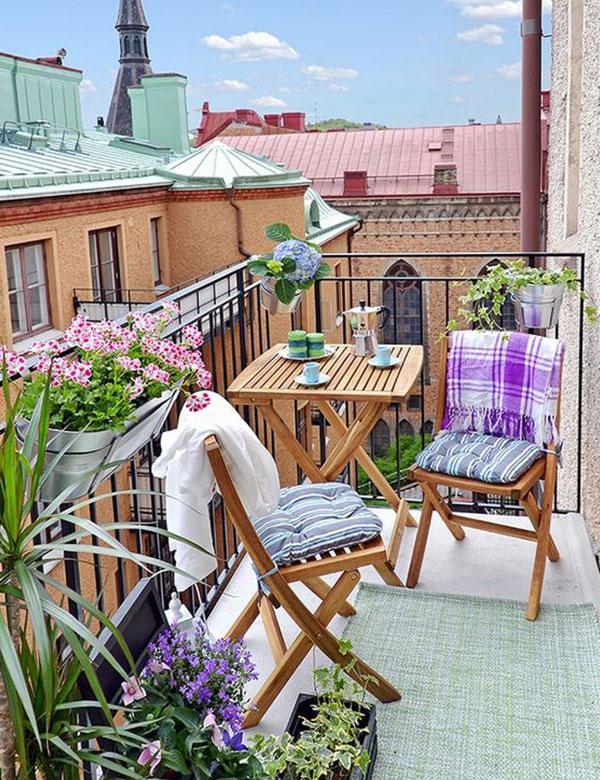 10 gorgeously beautiful small balcony designs | My Cosy Retreat
