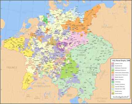 Holy Roman Empire in 1648.