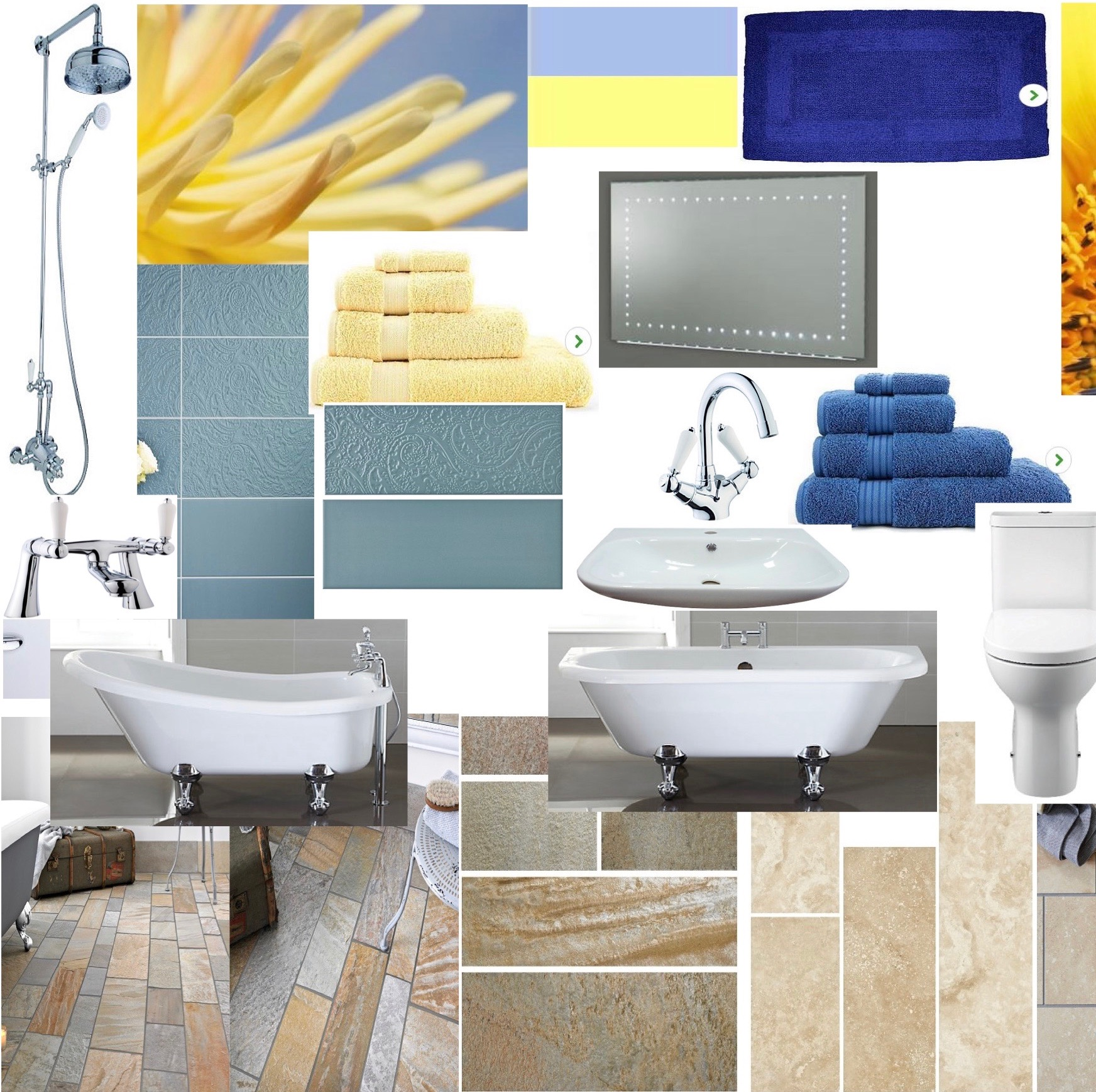 Bath mood board