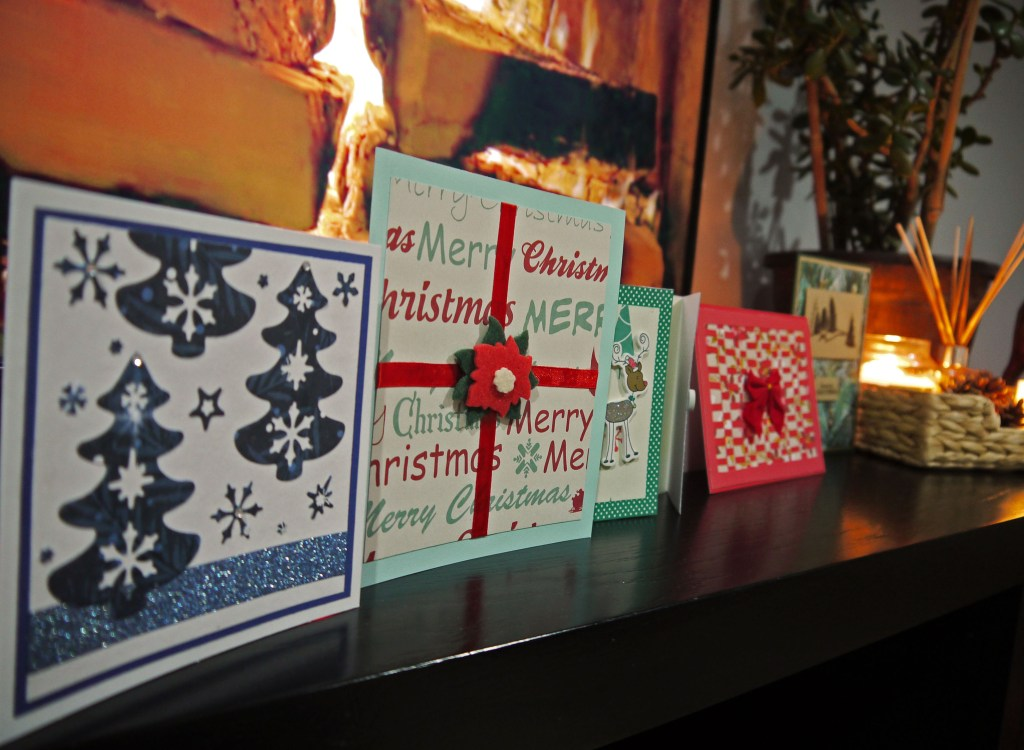 I love to display our Christmas cards