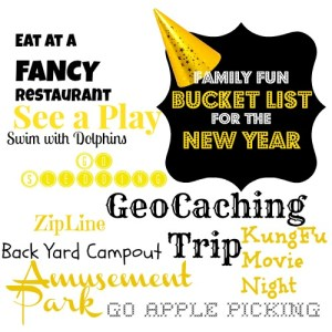 Family Fun Bucket List