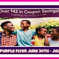 Publix Purple Flyer Matchups June 30th – July 13th