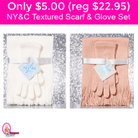 CUTE!  New York & Company Scarf and Glove Sets for $5.00 (reg $22.95) Free Shipping!
