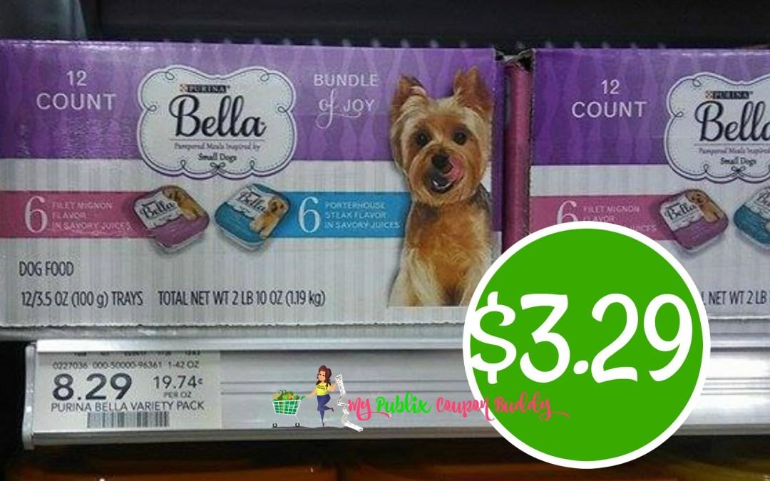 Bella Wet Dog Food 12 pack $3.29 at Publix