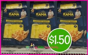 Rana Lasagna Sheets $1.50 at Publix