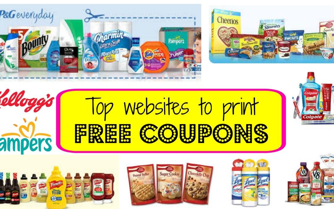 top printable coupon sites