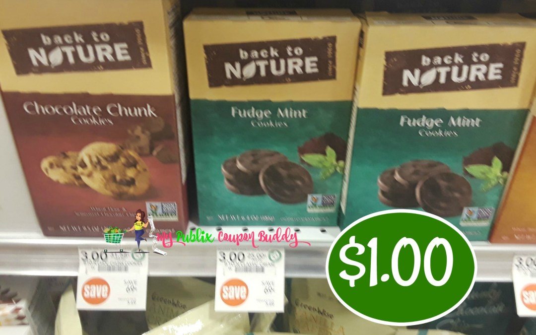 Back to Nature Cookies $1 (after Ibotta and coupons) at Publix