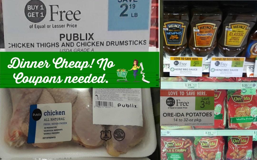 Cheap Dinner idea this week at Publix!
