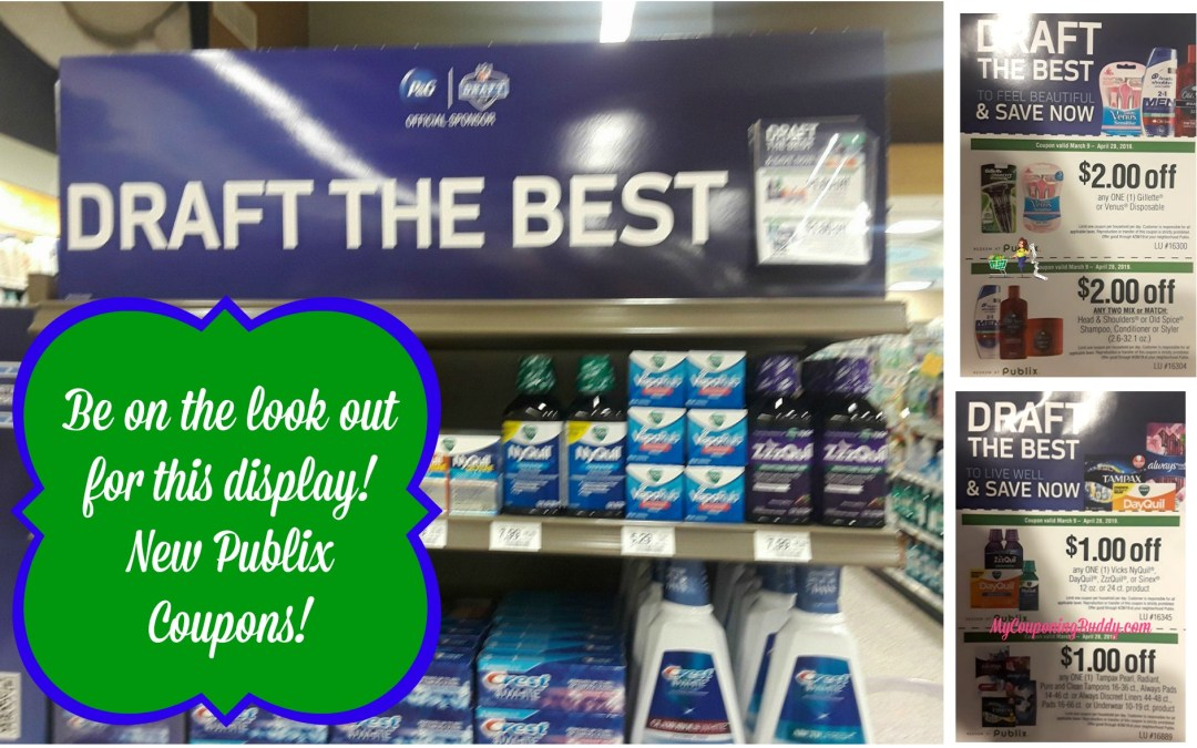 New Publix Coupons for Gillette, Head & Shoulders, Always and more found in store