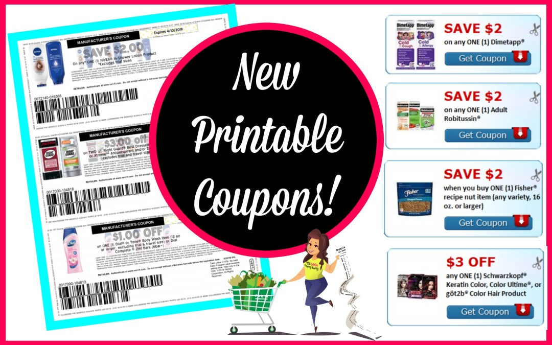 Over 25 New Printable Coupons! Nivea, Dial, Right Guard and more