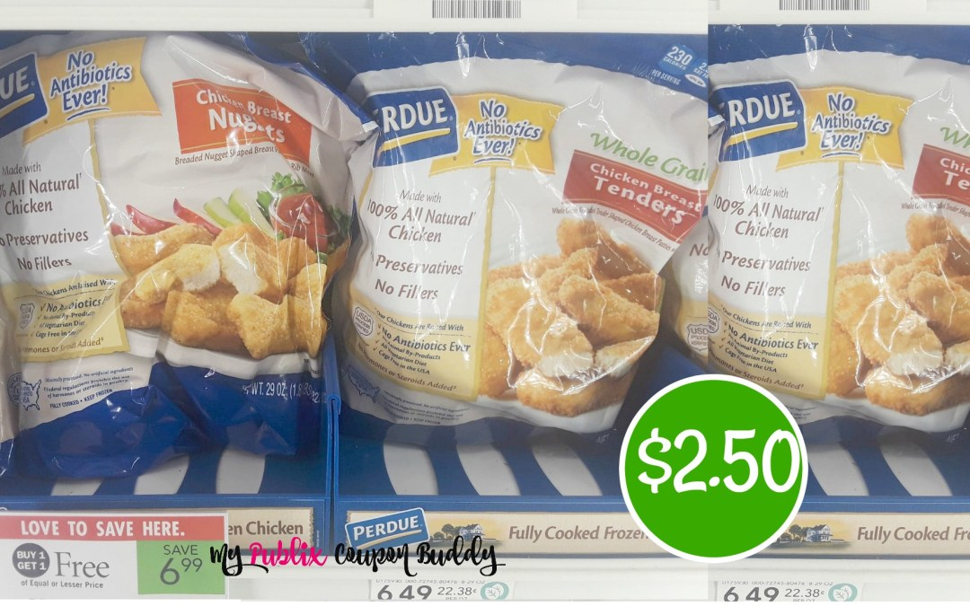 Perdue Chicken Nuggets or Patties $2.50 at Publix