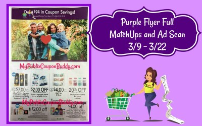 Publix Purple Flyer Full MatchUps and Ad Scan 3/9 – 3/22