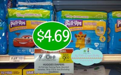 Huggies Pull Ups $4.69 at Publix (Plus Ibotta rebate)