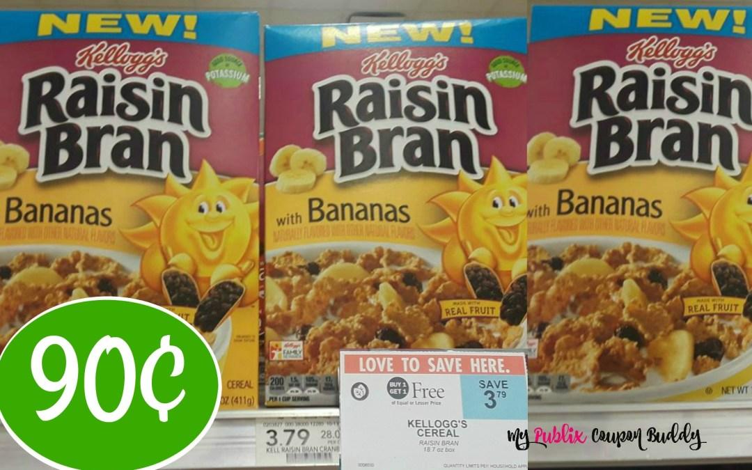 Kellogg's Raisin Bran Cereal 90¢ at Publix