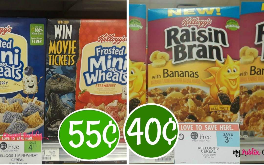 Half BOGO: Raisin Bran 40¢ or Mini Wheats 55¢ at Publix