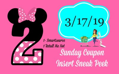 Sunday Coupon Insert Sneak Peek 3/17/19