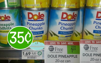 Dole Canned Pineapple 35¢ at Publix