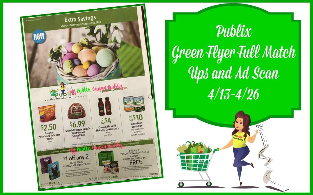 Publix Green Flyer Full Match Ups Ad Scan 4 13 4 26 My Publix